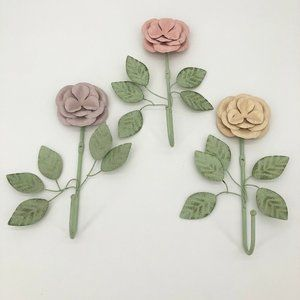 Anthropologie Metal Hook Wall Hangers Floral Wire